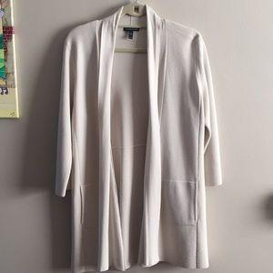Eileen Fisher light beige open cardigan M